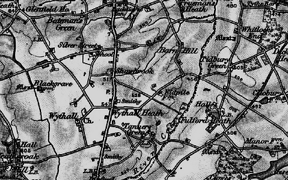 Old map of Wythall in 1899