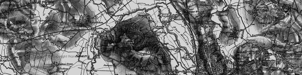 Old map of Wytham in 1895