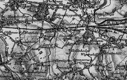 Old map of Wythenshawe in 1896