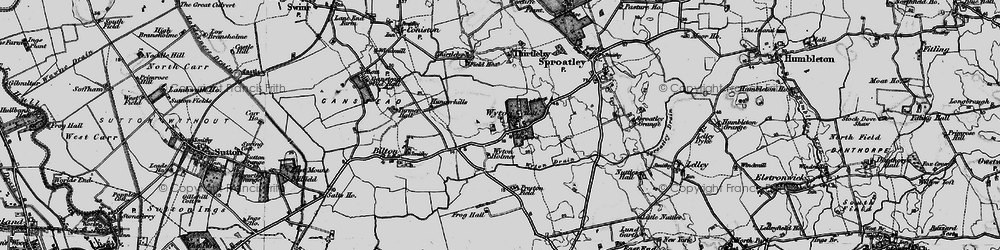 Old map of Wyton in 1895