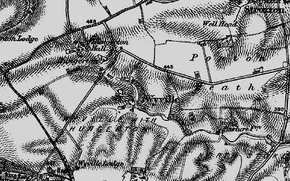 Old map of Wyville in 1899