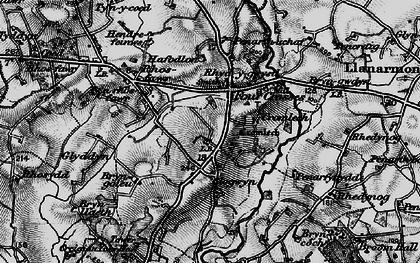 Old map of Y Ffôr in 1899
