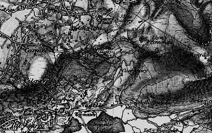 Old map of Afon Drws-y-coed in 1899