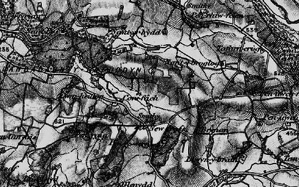 Old map of Gilfach goch in 1899