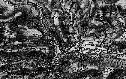 Old map of Y Gribyn in 1899