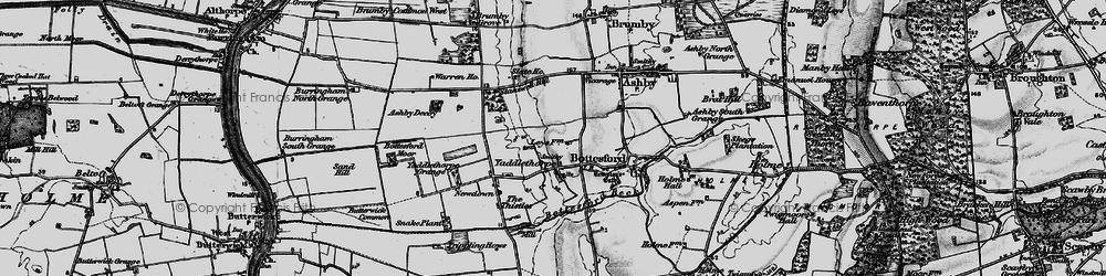Old map of Yaddlethorpe in 1895