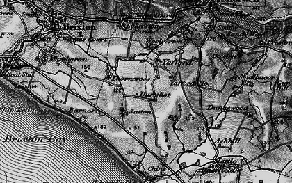 Old map of Yafford Ho in 1895