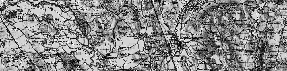 Old map of Yafforth Moor Ho in 1898