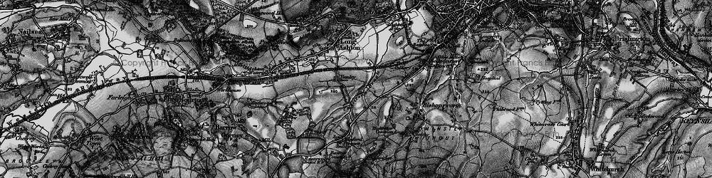 Old map of Yanley in 1898