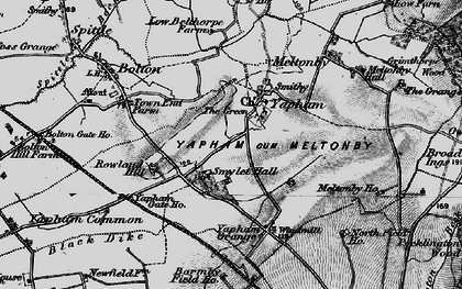 Old map of Yapham Common in 1898