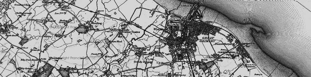 Old map of Yarborough in 1895