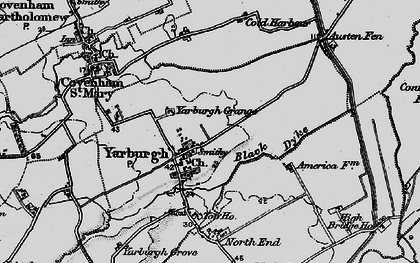 Old map of Yarburgh in 1899