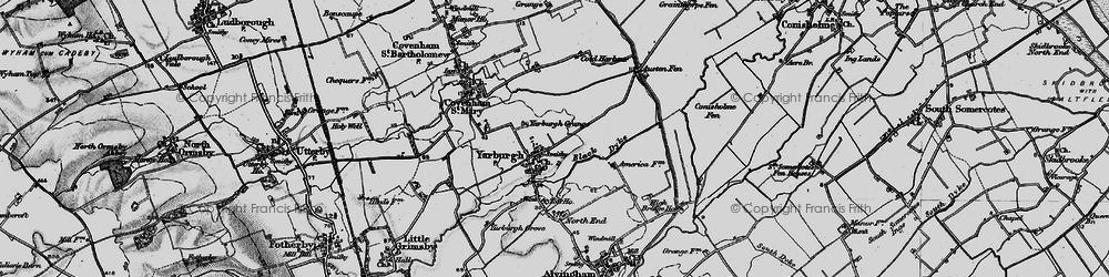 Old map of Yarburgh Grange in 1899