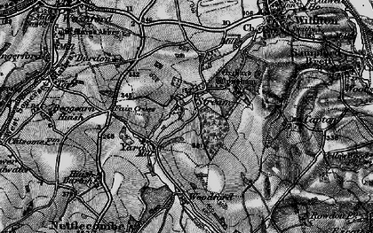 Old map of Yarde in 1898