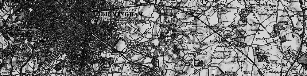 Old map of Yardley in 1899