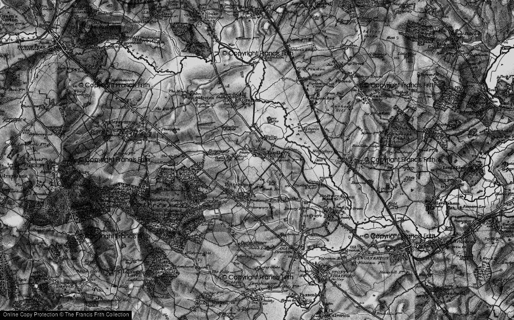 Old Map of Yardley Gobion, 1896 in 1896