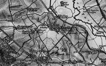 Old map of Yardley Gobion in 1896