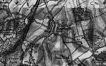 Old map of Yardley Chase in 1898