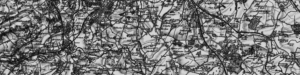 Old map of Yardley Wood in 1899