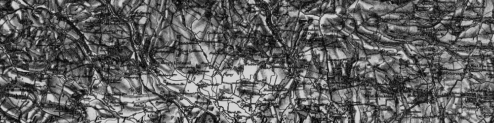 Old map of Yarford in 1898