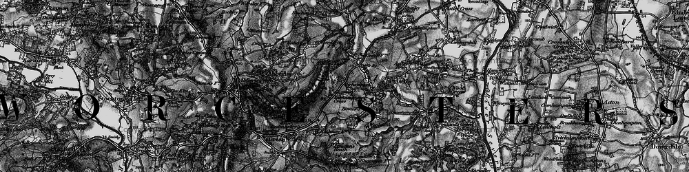 Old map of Abberley Hill in 1898