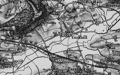 Old map of Yarkhill in 1898