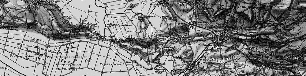 Old map of Yarley in 1898