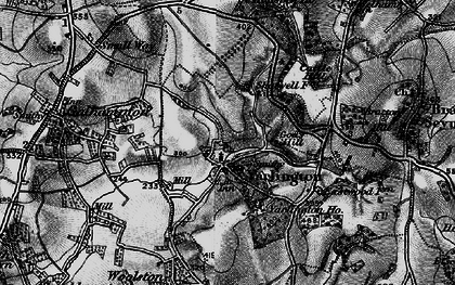 Old map of Yarlington in 1898