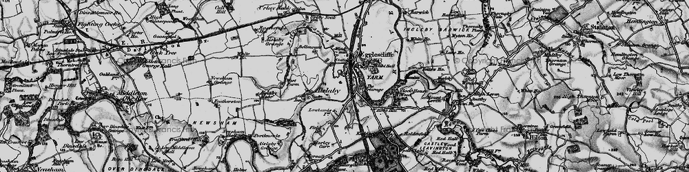 Old map of Yarm in 1898