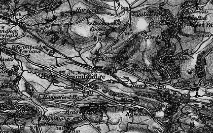 Old map of Yarnacott in 1898