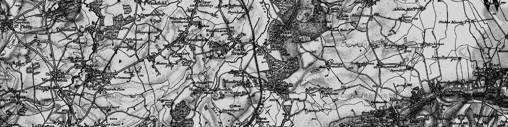Old map of Yarnbrook in 1898