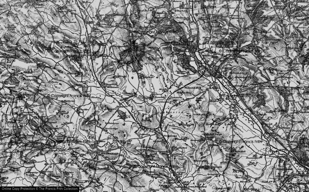 Old Map of Yarnfield, 1897 in 1897