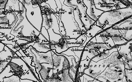 Old map of Yarnfield in 1897
