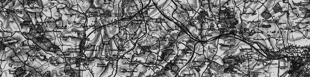 Old map of Yarningale Common in 1898