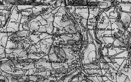 Old map of Yarnscombe in 1898