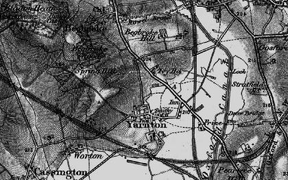 Old map of Yarnton Ho in 1895