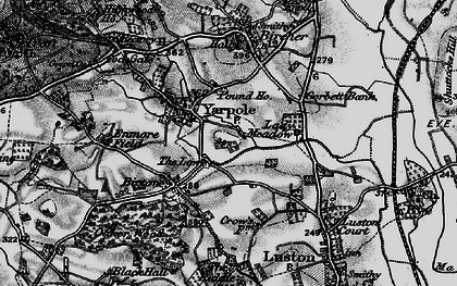 Old map of Yarpole in 1899