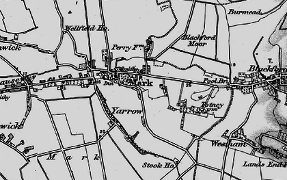 Old map of Yarrow in 1898