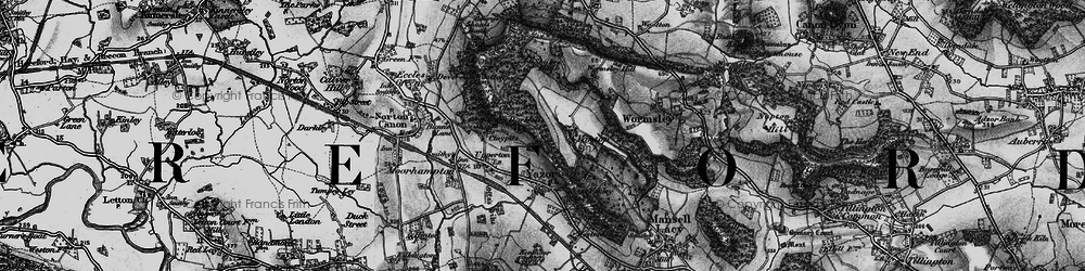 Old map of Wormsley Hill in 1898