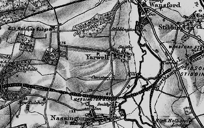 Old map of Yarwell Junction Sta in 1898