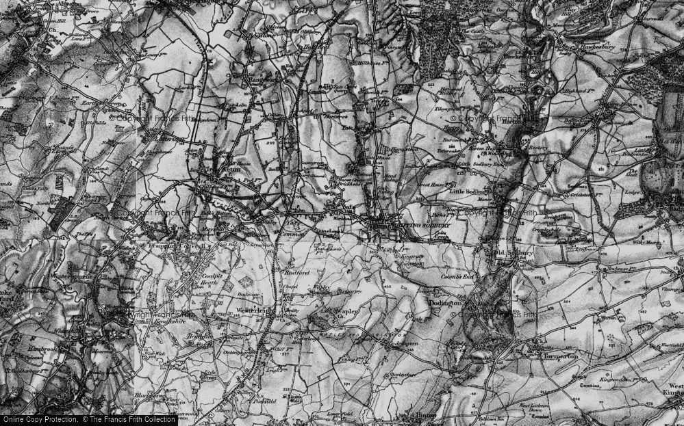 Old Map of Yate, 1898 in 1898