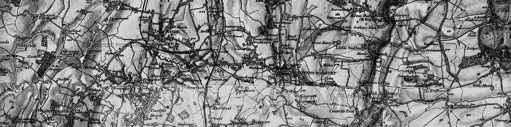 Old map of Yate in 1898