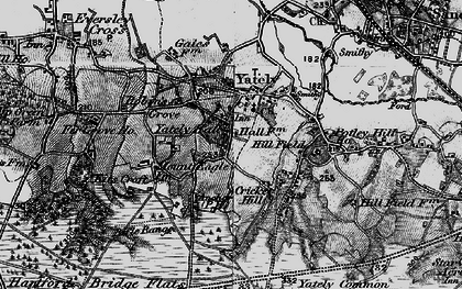 Old map of Yateley in 1895