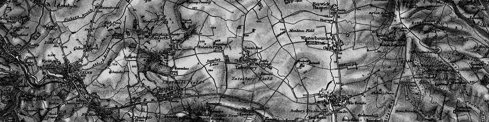 Old map of Yatesbury in 1898