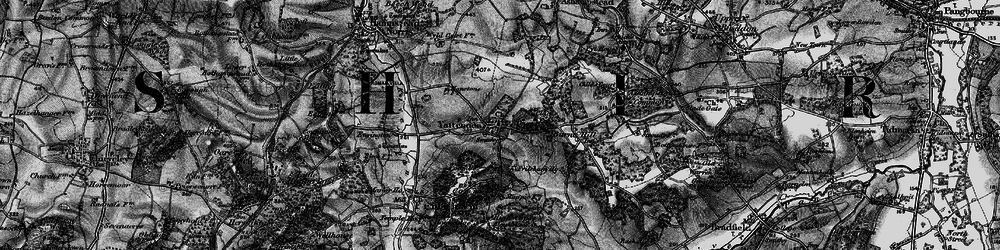 Old map of Yattendon in 1895
