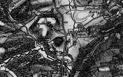 Old map of Yatton Hill in 1899