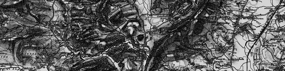 Old map of Leathers, The in 1899