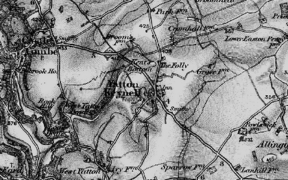Old map of Yatton Keynell in 1898