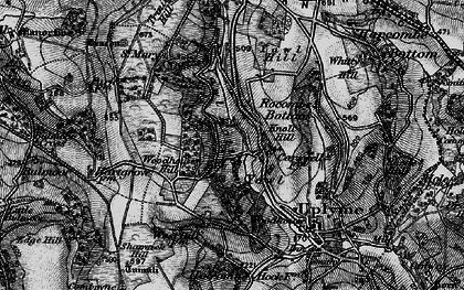 Old map of Yawl Hill in 1898