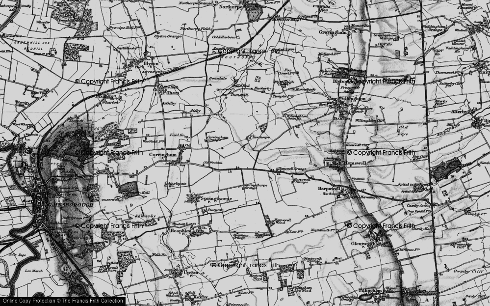 Old Map of Yawthorpe, 1895 in 1895